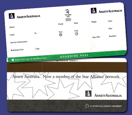 BOARDING PASS - Ansett Australia / Olympic / Star Alliance